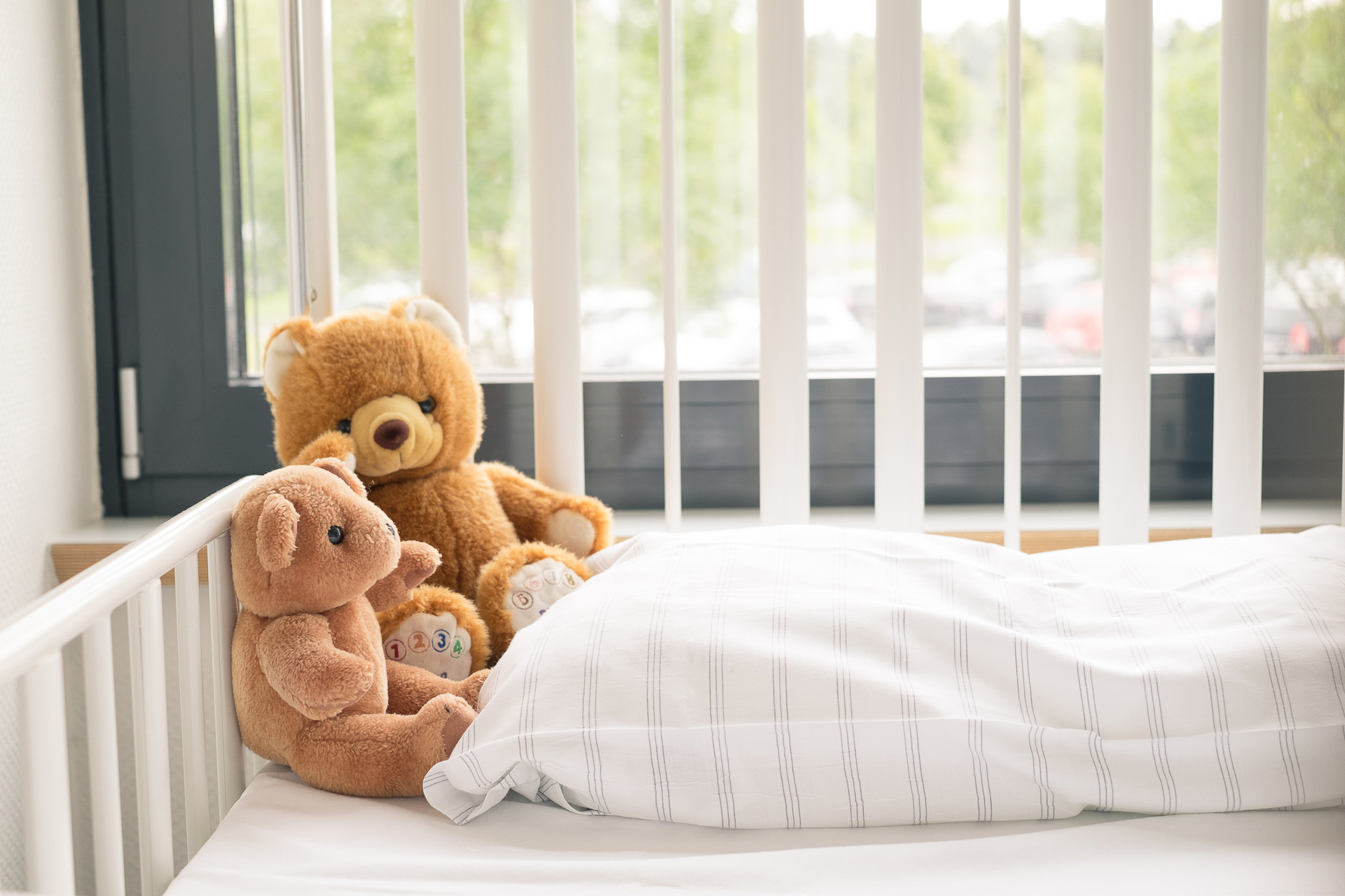 Teddybären im Kinder-Aufwachraum